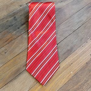 Aixiangsui hand made tie red striped